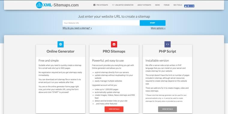 XML-sitemap.com 自動生成 Sitemap